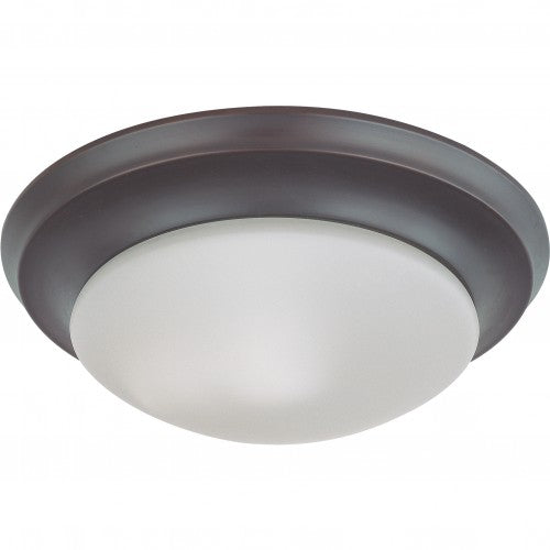 Nuvo 62-787 18W LED 12 in Dimmable Mahogany Bronze Ceiling Flush Mount Fixture