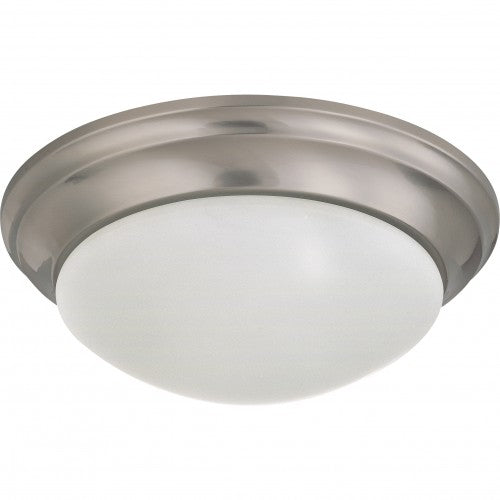 Satco 62-788 24W LED 14 inch Dimmable Brushed Nickel Ceiling Flush Mount Fixture