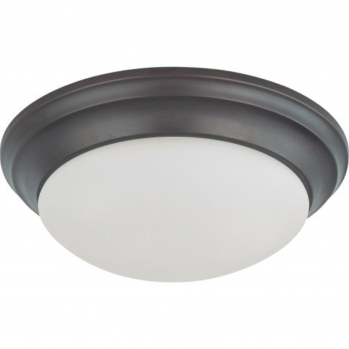 Nuvo 62-789 24W LED 14 in Dimmable Mahogany Bronze Ceiling Flush Mount Fixture