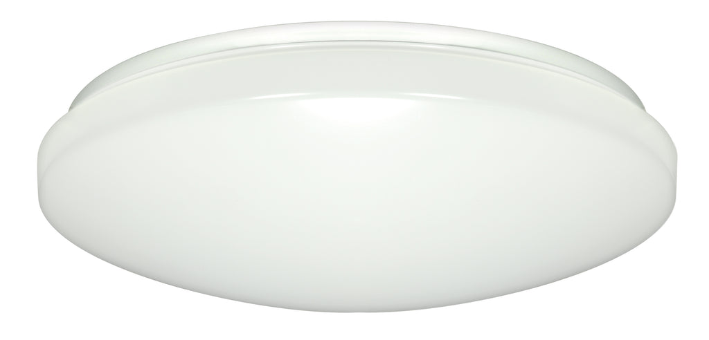1-Light Fixture Mounted LED Light Fixture in White Finish3000K