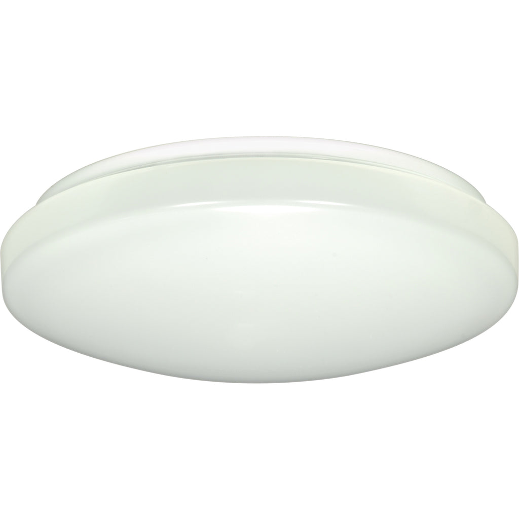 "11"" Flush Mounted LED Light Fixture - White Finish 120-277V"