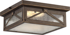 Signal 1-Light Flush Mounted Close-to-Ceiling Light Fixture in Umber Bay Finish