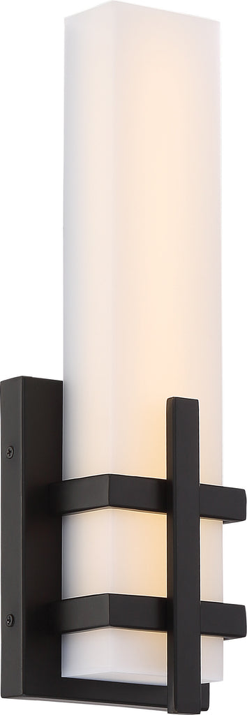 "Nuvo Grill 1-Light 13w 4"" LED Decorative Wall Sconce in Aged Bronze Finish"