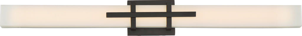 "Nuvo Grill 1-Light 36"" LED Wall Linear Vanity Light in Aged Bronze Finish"