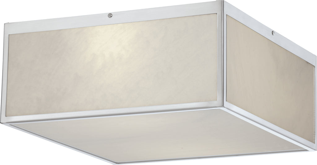 Crate 1-Light Flush Mounted Light Fixture in Brushed Nickel Finish