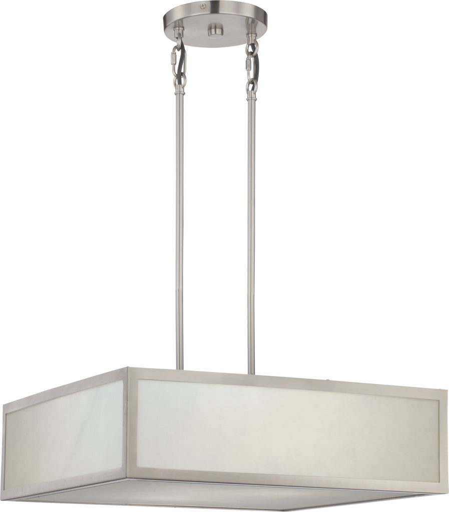 Crate 2-Light Pendants Mounted Pendant Light Fixture in Brushed Nickel Finish