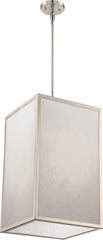 Crate 1-Light Pendants Mounted Pendant Light Fixture in Brushed Nickel Finish