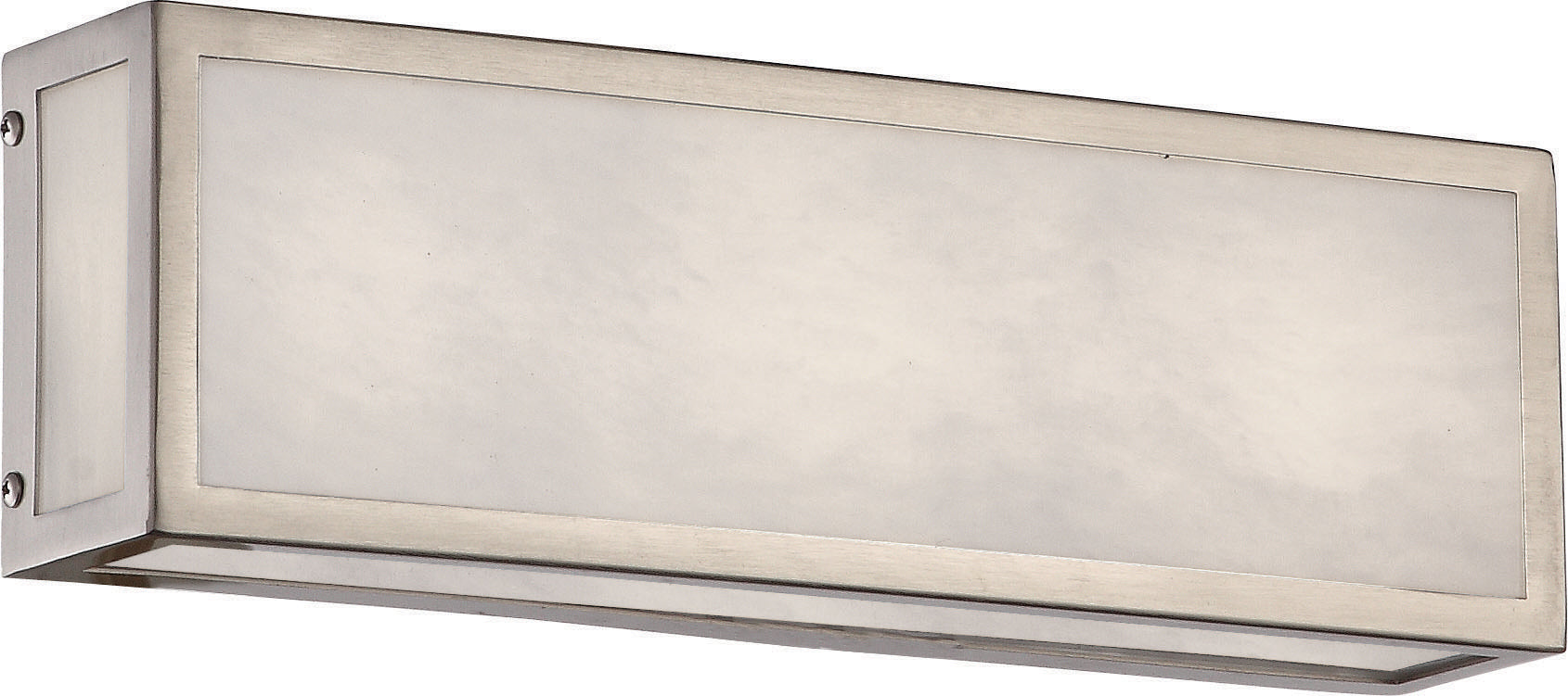 "Nuvo Crate 12"" LED Vanity Marbleized Acrylic Panels in Brushed Nickel Finish"