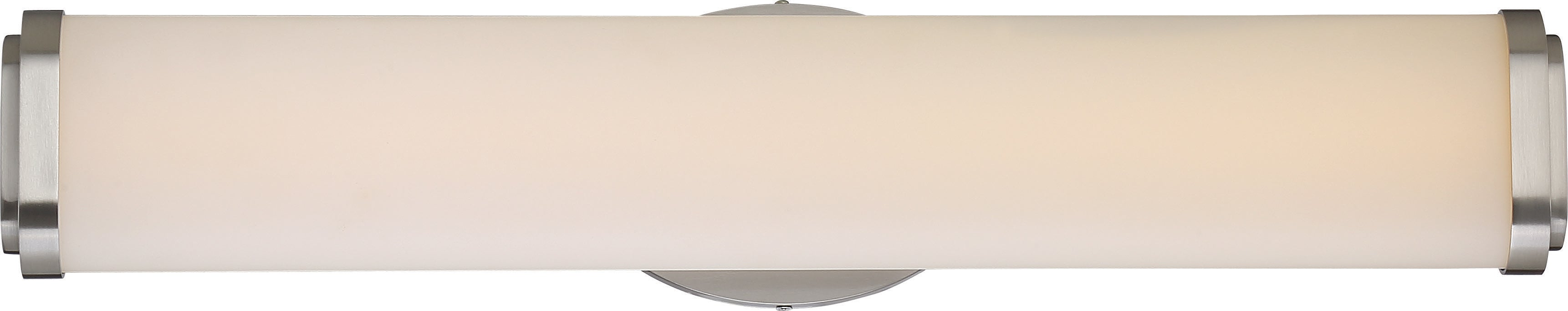 """Nuvo Pace 1-Light 24"""" Double Wall Sconce Vanity & Wall Fixture In Brushed Nickel"""