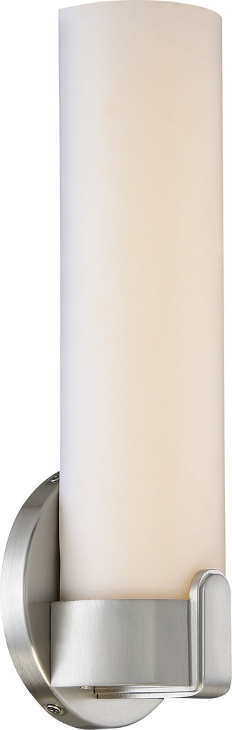 Nuvo Loop 1-Light LED Single Wall Sconce Vanity Light in Brushed Nickel Finish
