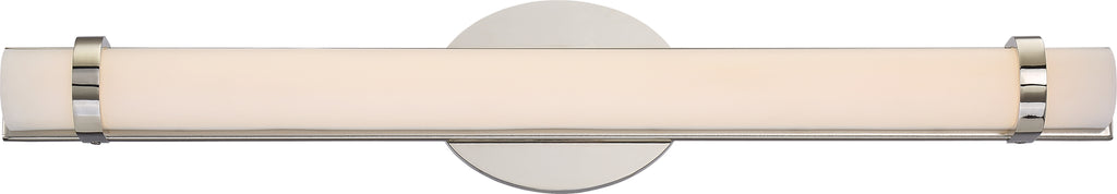"Nuvo Slice 1-Light 24"" LED Double Wall Vanity Sconce in Polished Nickel Finish"