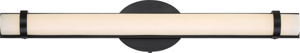 "Nuvo Slice 1-Light 24"" LED Double Wall Vanity Sconce in Aged Bronze Finish"