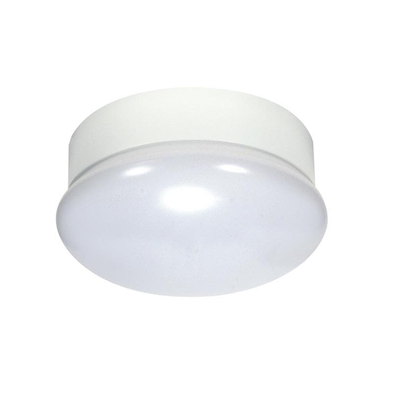 Nuvo 7in. Round Flush Mount LED 13.5w Dimmable 3000K Utility Fixture
