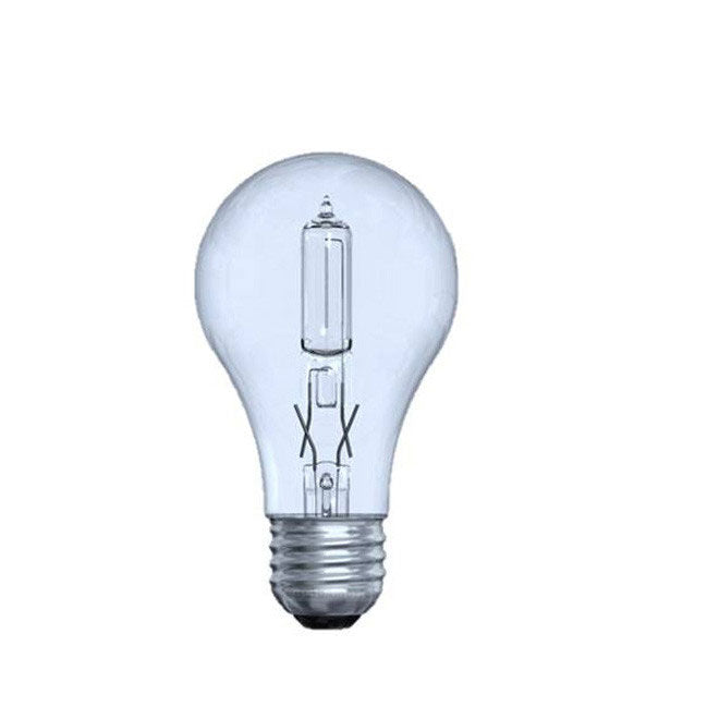 GE 43W A19 Halogen Clear Reveal Energy-Efficient - replace 60w Incand - 2 bulbs