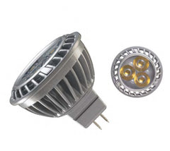 Ge 4.5w 12v 3000k 25MR16 Silver LED Light Bulb
