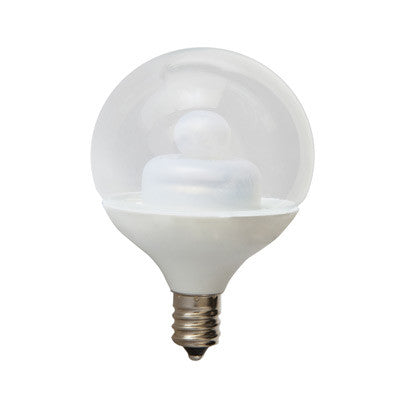 GE 1.8W E12 Candelbra Base Clear Globe G16.5 LED Light Bulb