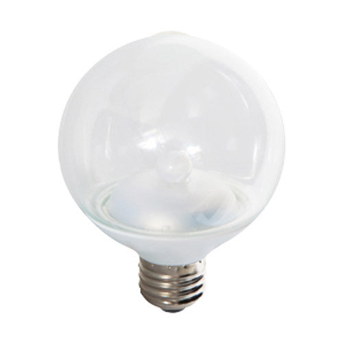 GE 2.3W 120V G25 Globe LED Clear Finish Light Bulb