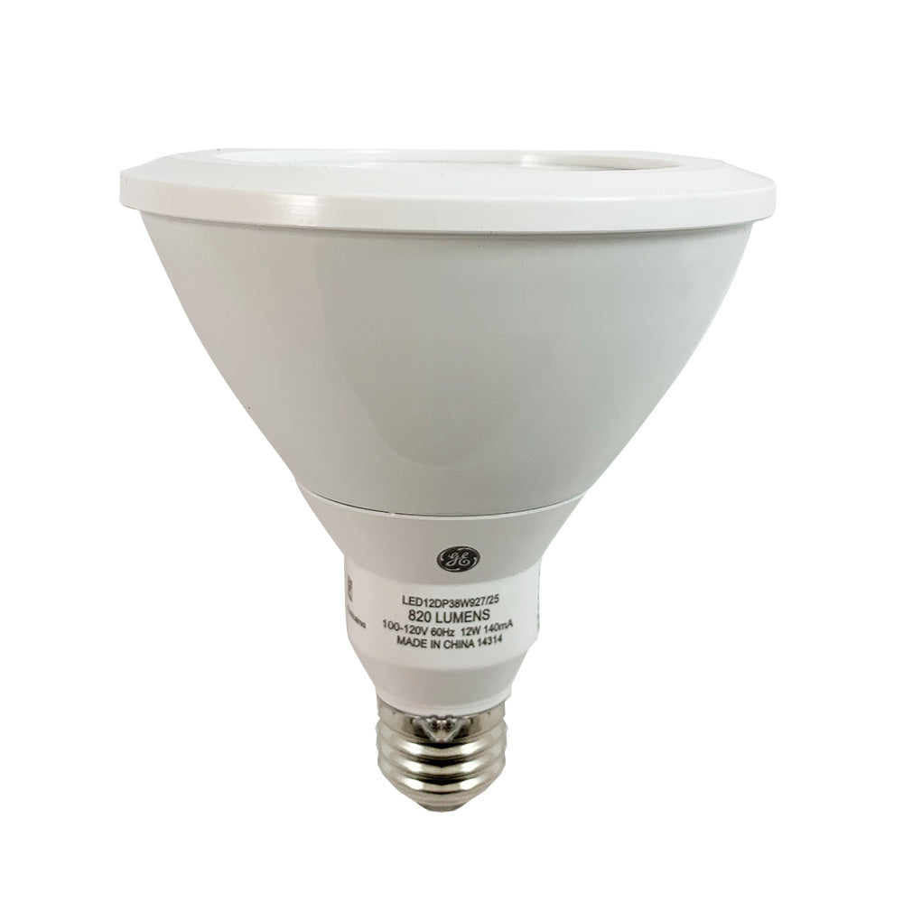 GE 12w PAR38 Dimmable LED Narrow Flood 25 Warm White 2700k Low Glare Light Bulb