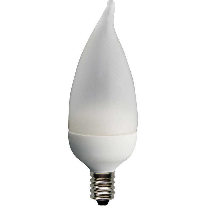 Ge 2w 120v 2900k E12 Flame Frosted Candelabra LED Light Bulb