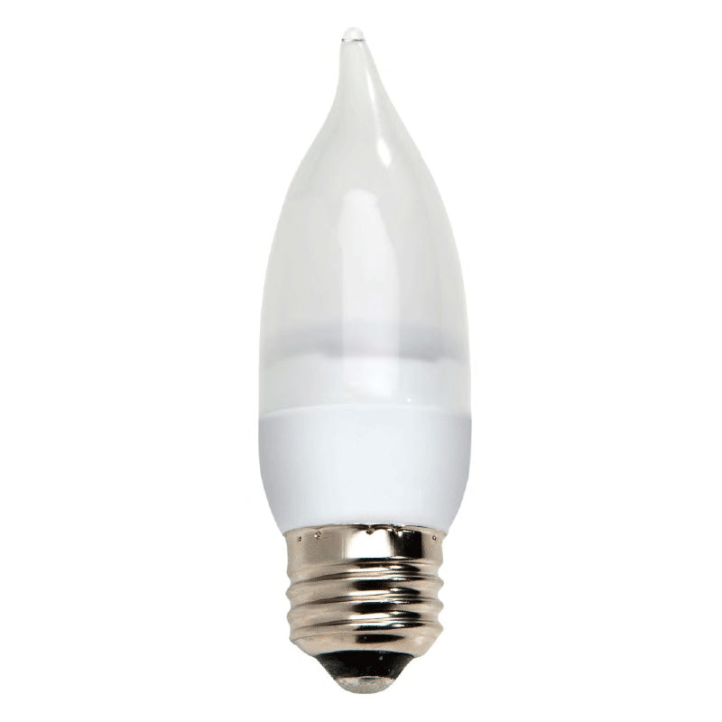 GE 64047 2.2w LED 3000k E26 Dimmable 120v Candelabra Frosted White Light Bulb