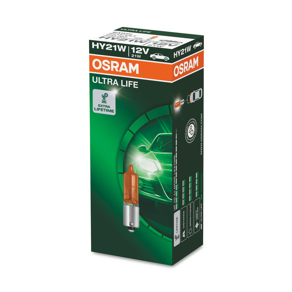 10-PK Osram HY21W 12V 64137 ULT ULTRA LIFE Automotive Bulb