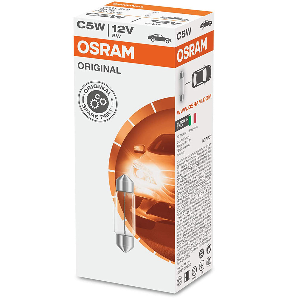 OSRAM 6418 C5W 36mm 5W 12V Festoon Automotive Bulb
