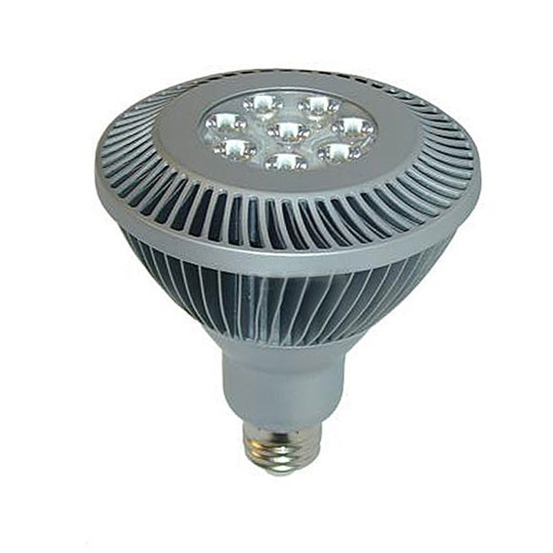 20w Led Dimmable: GE 20w PAR38 Dimmable LED 2700k Spot Silver Light Bulb