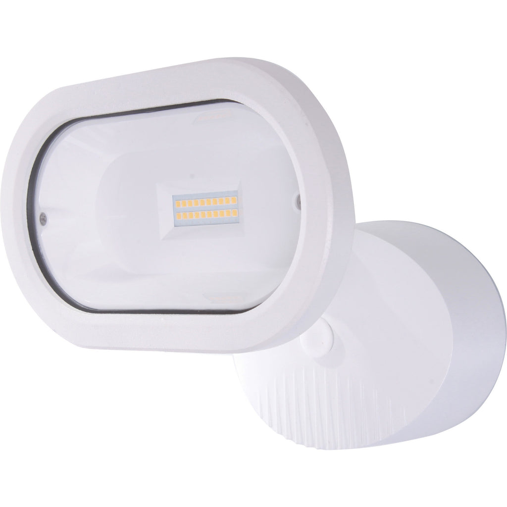 LED Single Head Security Light 4000K White Finish 1200 Lumens