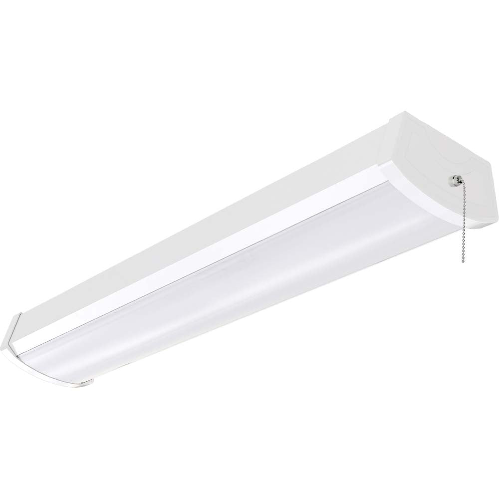 """Nuvo Lighting 20w 24"""" LED Ceiling wrap w/ Pull Chain in White Finish 3000k"""