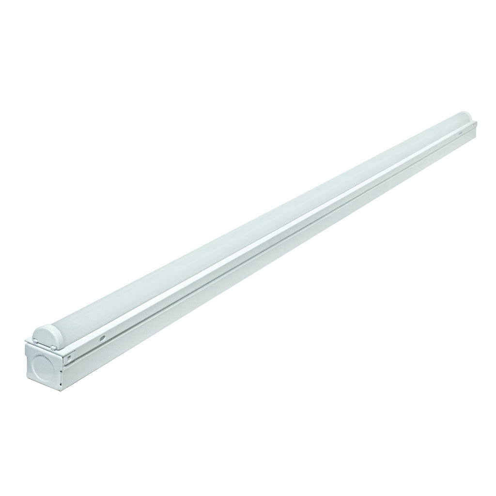 24W 4' LED Strip Light White Finish 100-277V
