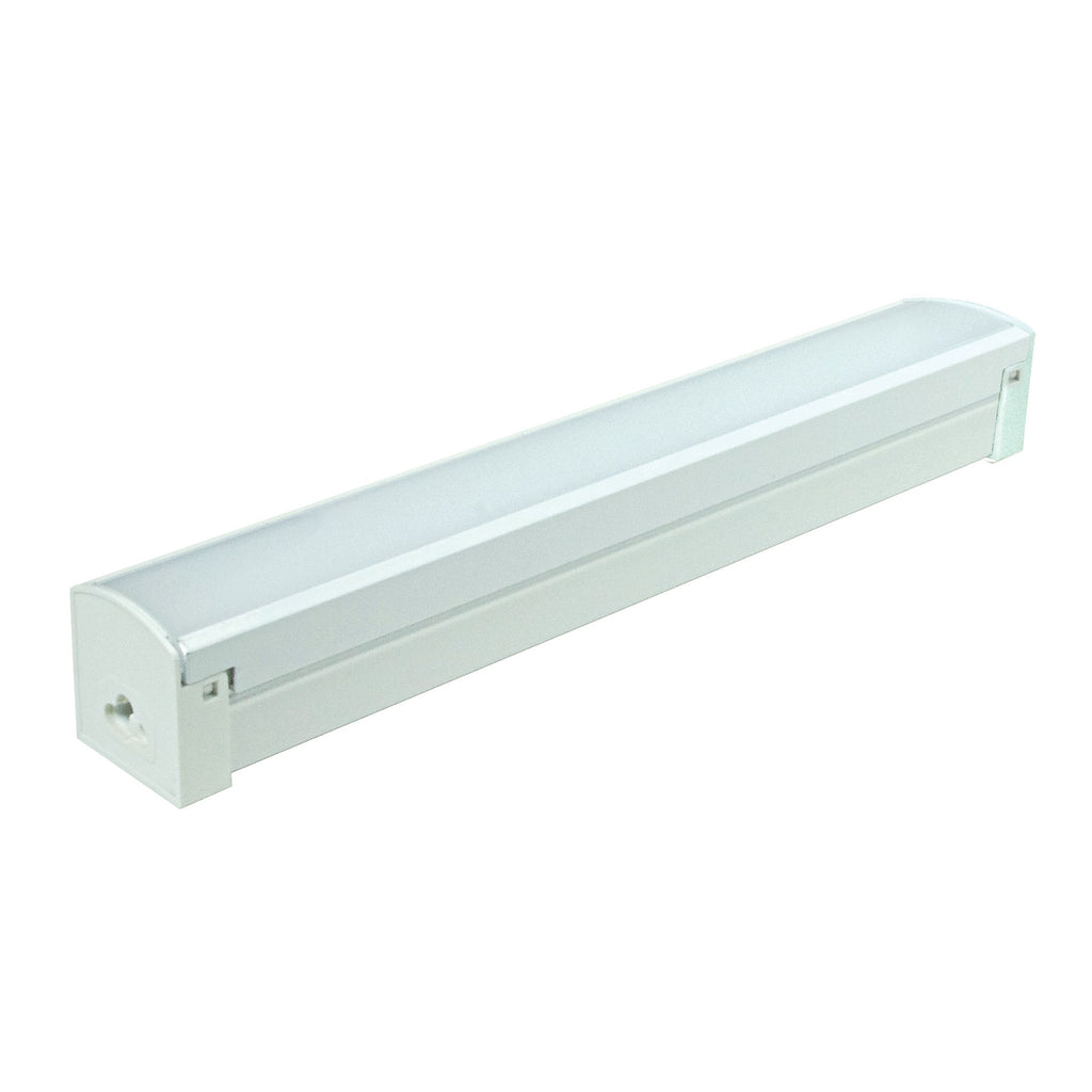 12W 1' LED Connectable Strip 4000K White Finish 120V