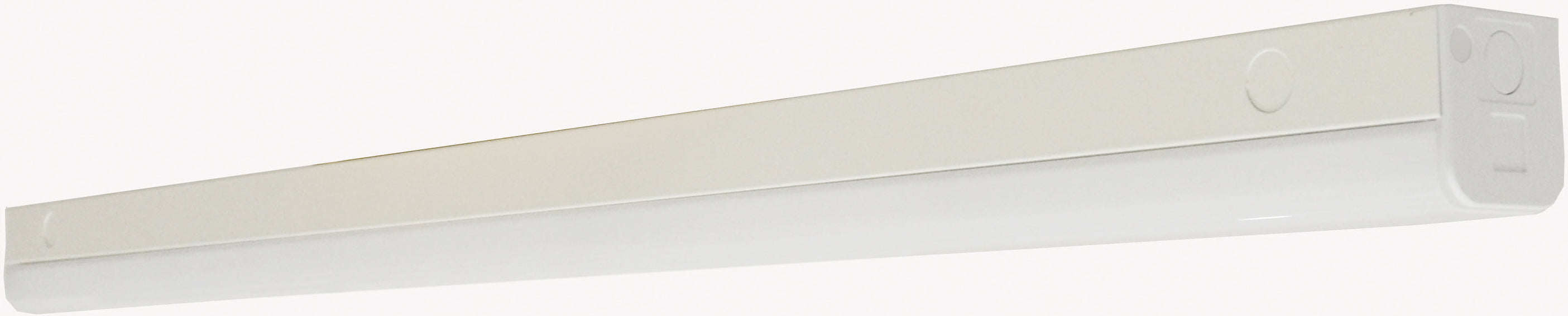 """Nuvo LED 38w 48"""" Slim Strip Light Fixture w/ knockout in White Finish 4000k"""