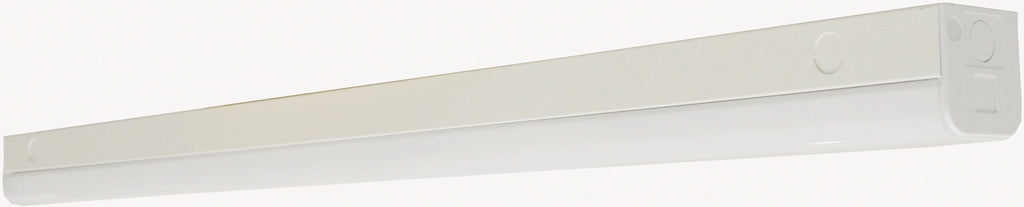 "Nuvo LED 38w 48"" Slim Strip Light Fixture w/ knockout in White Finish 4000k"