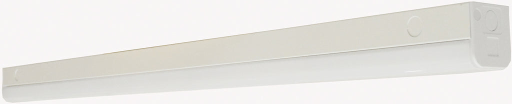 "Nuvo LED 38w 48"" Slim Strip Light Fixture w/ knockout in White Finish 5000k"