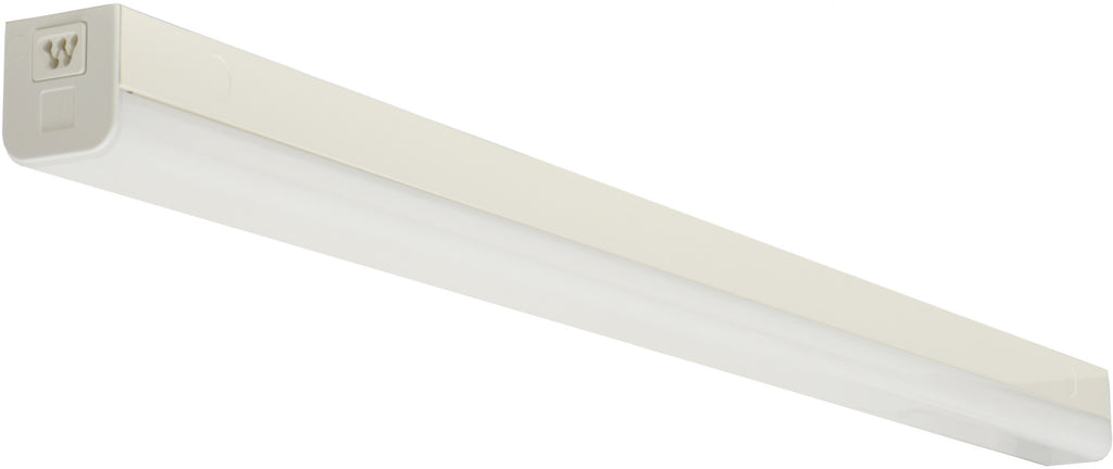 "Nuvo LED 38w 48"" Slim Strip Light Fixture w/ Connectible in White Finish 5000k"