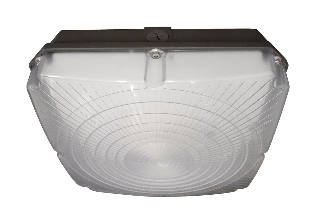 "Nuvo 40w 8.5"" LED Canopy Light Fixture 120-277V in Bronze Finish 5000k"