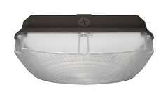 "Nuvo 40w 10"" LED Canopy Light Fixture 120-277V in Bronze Finish 5000k"