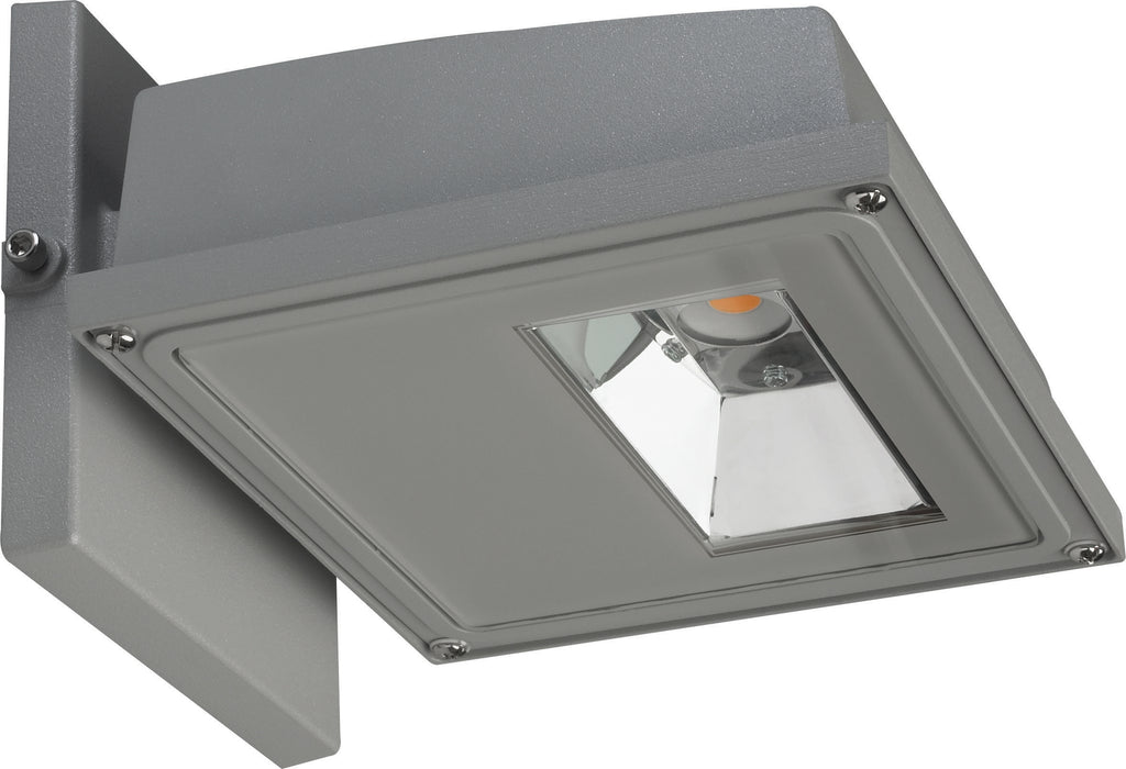 11W LED Small Wall Pack 1255Lm 3000K Gray Finish