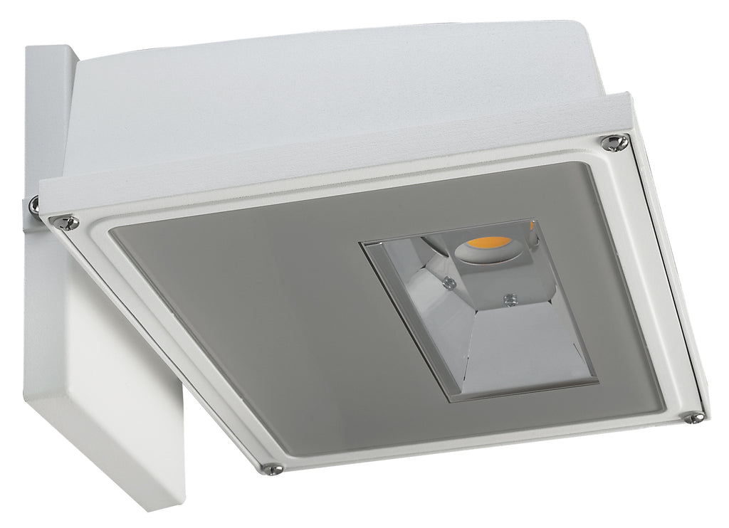 15W LED Small Wall Pack 1650Lm 3000K White Finish