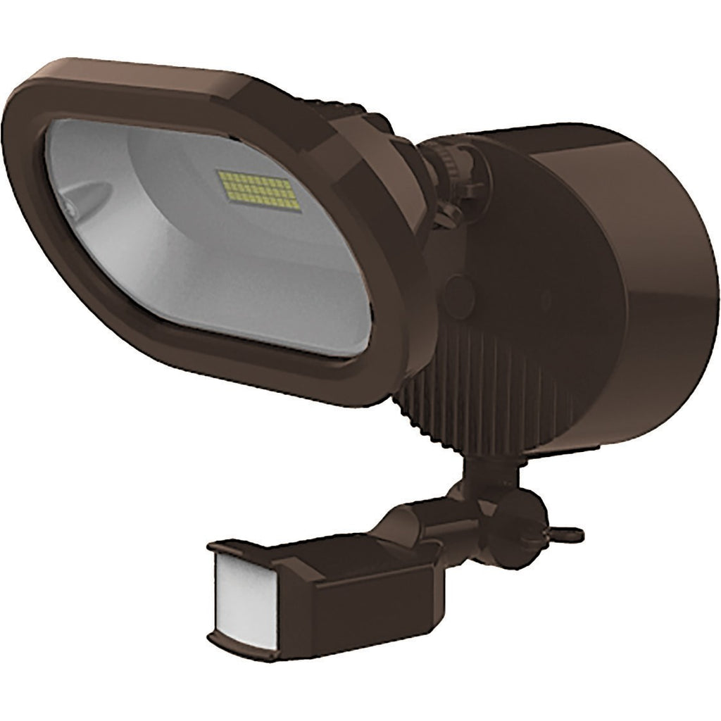 LED Single Head Security Light Motion Sensor Included 3000K Bronze Finish