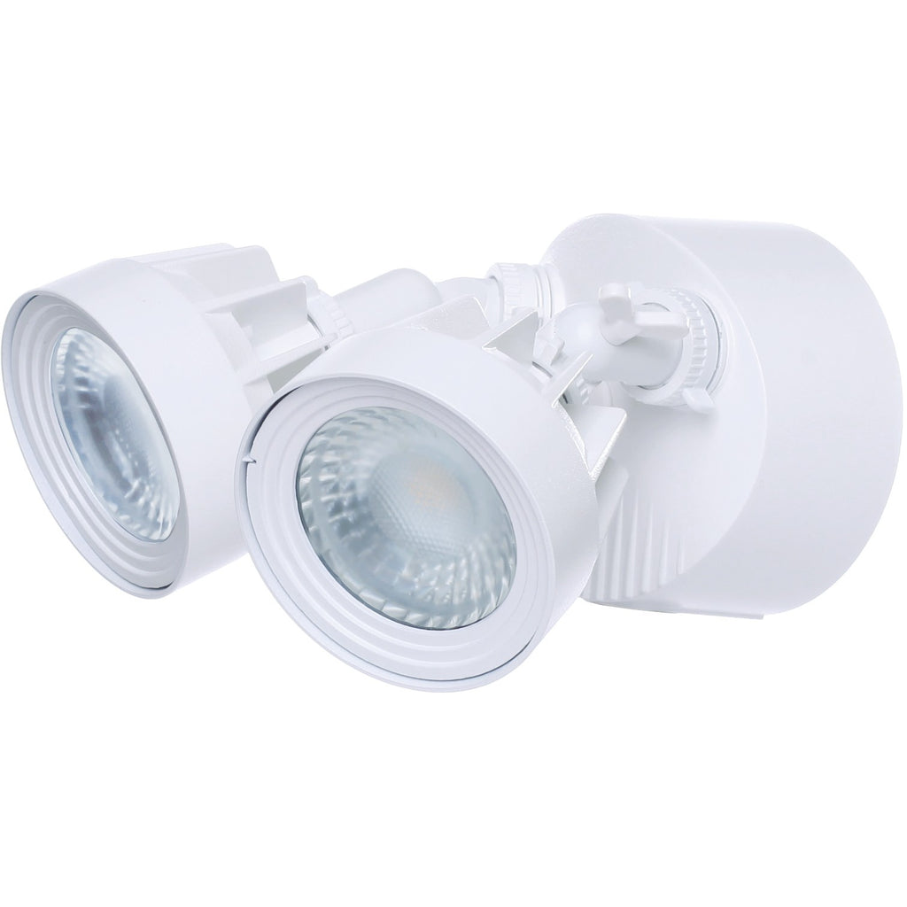 LED Single Head Security Light 3000K White Finish