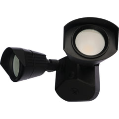 Nuvo LED Security Light w/ Dual Head Light in Black Finish 3000k