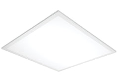 1-Light LED Flat Panels Mounted Lighting Products Light Fixture in White Finish