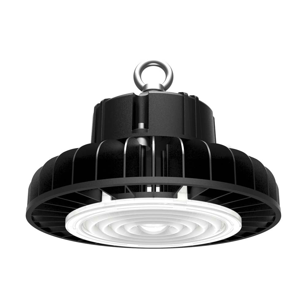 Nuvo 100w 5000k 277-480v LED High bay w/ DLC Premium in Black Finish