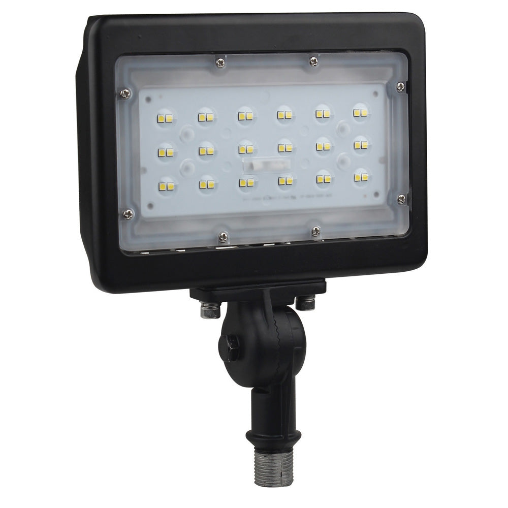 30W Bronze LED Medium Flood Light 5000K with Adjustable Neck
