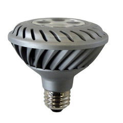 GE 12w 120v PAR30 NFL20 Silver Dimmable Energy Smart LED Light Bulb
