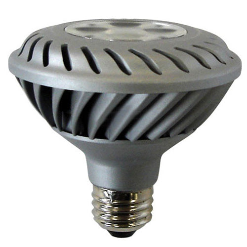 GE 65136 12w PAR30 LED Silver Flood FL35 Dimmable 3000K E26 120v Light Bulb