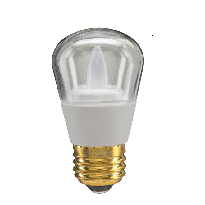 GE 2.4w S14 Clear LED Bulb Soft White 100Lm lamp