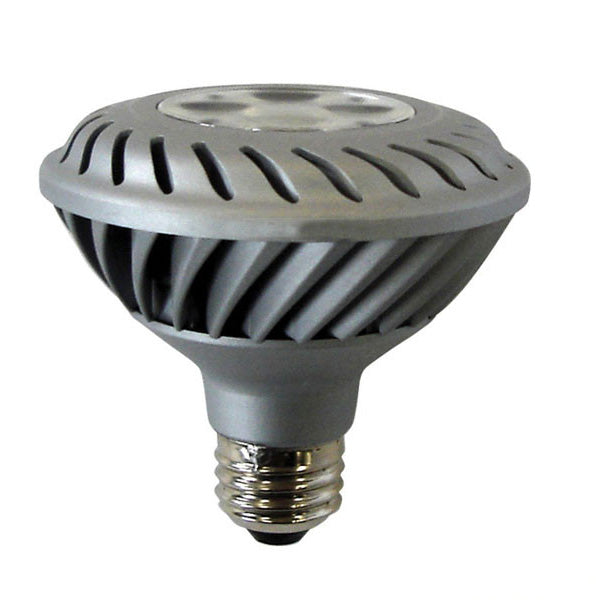 GE 12w 120v PAR30 Silver Dimmable 2700k Narrow Flood Energy Smart LED Light Bulb