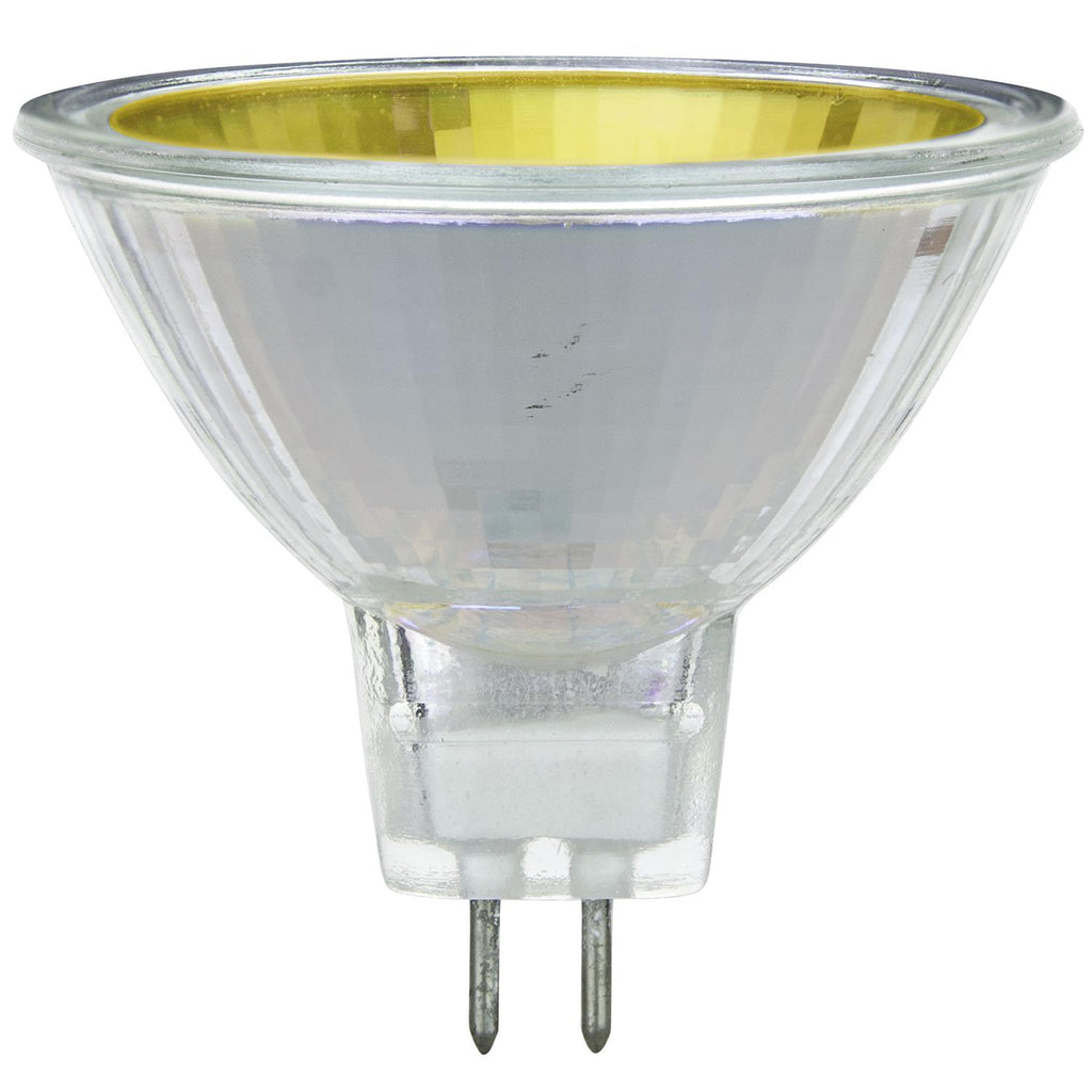 SUNLITE 50w 12v MR16 Narrow Spot 12deg. GU5.3 With Cover Guard Yellow Halogen Bulb